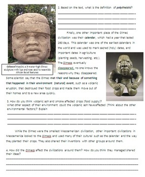 The Olmec - Mesoamerica