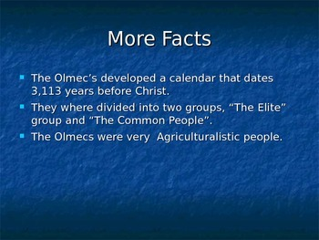The Olmecs Powerpoint