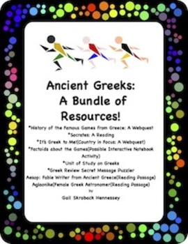 The FAMOUS Games of Ancient Greece: A BUNDLE of RESOURCES