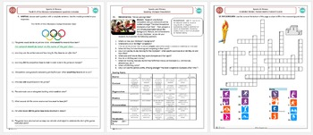 The Olympic Games Complete Unit Packet (Adult ESL)
