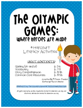 The Olympic Games: Where Heroes are Made (Harcourt Supplemental Materials)