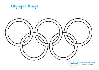 The Olympic Rings Colouring Sheet