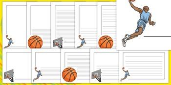 The Olympics Basketball Page Borders