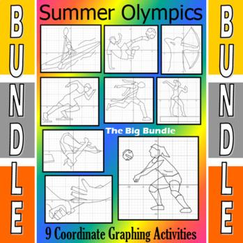 The Olympics Big Bundle - 19 Coordinate Graphing Activities