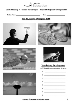 The Olympics (Lesson 1 of 5) - Rio de Janeiro, Brazil Olympics 2016 - Grade 2