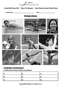 The Olympics (Lesson 3 of 5) - Olympic Heroes; Michael Phelps - Grades 3&4