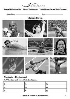 The Olympics (Lesson 2 of 5) - Olympic Heroes; Nadia Comaneci - Grades 5&6