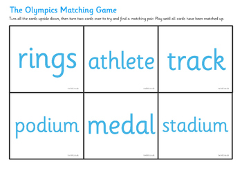 The Olympics Matching Game