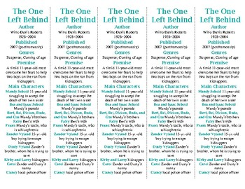 The One Left Behind edition of Bookmarks Plus: Fun Freebie/Handy Reading Aid!