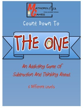 The One- Math Game for Subtraction, Counting Ahead