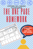 THE ONE PAGE HOMEWORK 2ND GRADE / Spiral Math Review