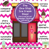 The One-Stop Ice Cream Shop! {Language & Auditory Processing}