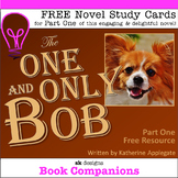 The One and Only Bob Part One Study Cards - FREE Resource