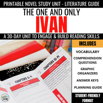 The One and Only Ivan Foldable Novel Study Unit