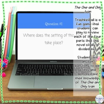 The One and Only Ivan Novel Unit includes Webquest, Activities and Assessments