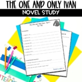 The One and Only Ivan Novel Unit includes Webquest, Activi