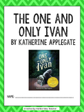 The One and Only Ivan by Katherine Applegate Novel Packet