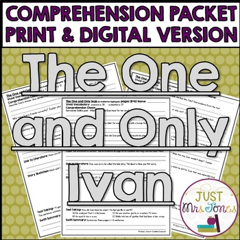 The One and Only Ivan Comprehension Packet