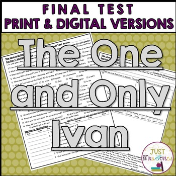 The One and Only Ivan Final Test