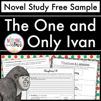 The One and Only Ivan Novel Study FREE Sample