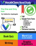 The One and Only Ivan Book Novel Study Guide PDF | READING QUIZZES | VOCABULARY+