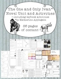 The One and Only Ivan Novel Study Unit and Activities - includes Lapbook Set