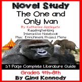 The One and Only Ivan Novel Study and Enrichment Project Menu; Digital Option
