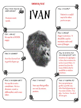 The One and Only Ivan Novel Study by Dianne Watson