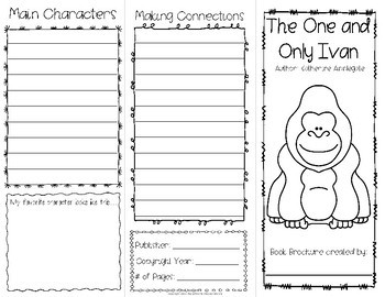 The One and Only Ivan Project: Create a Brochure  {a FUN Book Report Activity}