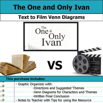 The One and Only Ivan - Text to Film Venn Diagram & Written Conclusion