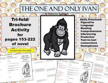 The One and Only Ivan Tri-fold/Brochure Activity #5 for pages 153-222
