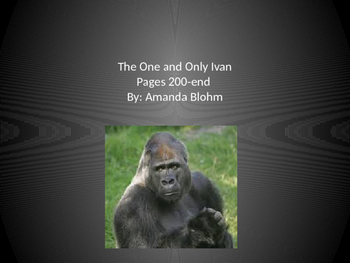The One and Only Ivan Vocabulary (English and Spanish) Pages 200-the End