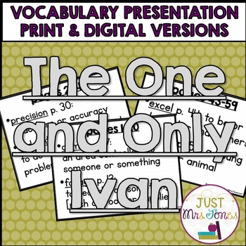 The One and Only Ivan Vocabulary Presentation
