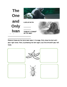 The One and Only Ivan Worksheet