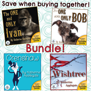 The One and Only Ivan, Crenshaw, and Wishtree Novel Study Unit Bundle