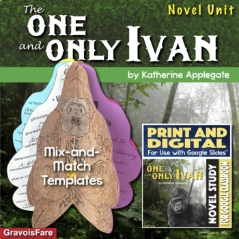 The One and Only Ivan by Katharine Applegate — Novel Study Unit and Book Report