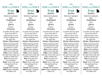 The One and Only Ivan edition of Bookmarks Plus—Fun Freebie/Handy Reading Aid!