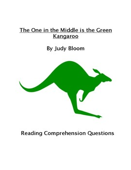 The One in the Middle is a Green Kangaroo Comprehension Questions