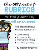 The Only Set of First Grade Writing Rubrics You'll Ever Need
