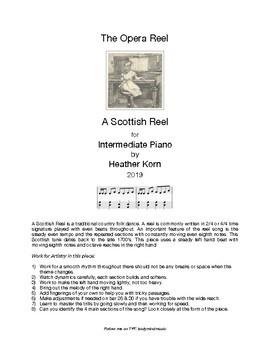 The Opera Reel - A Scottish Reel Song - Intermediate Piano Solo
