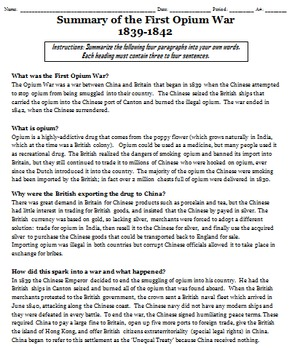 The Opium Wars Two Day Lesson Pack