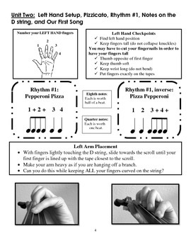 The Orchestra Garden: A Supplement to Beginning Instruction, Sample Violin Book