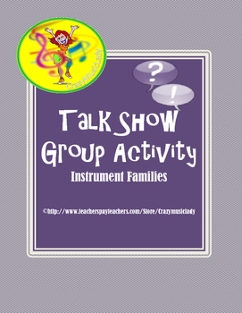 The Orchestra: Talk Show Group Activity