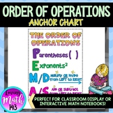 The Order of Operations Anchor Chart
