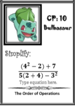 The Order of Operations (Pokemon Hunting)