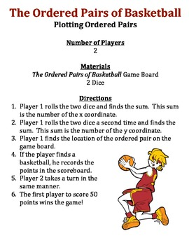 The Ordered Pairs of Basketball - A Game to Practice Plotting Ordered Pairs