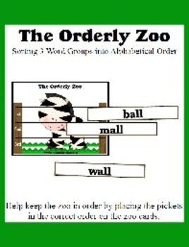 The Orderly Zoo - Teaching Alphabetical Order supporting Dictionary Skills