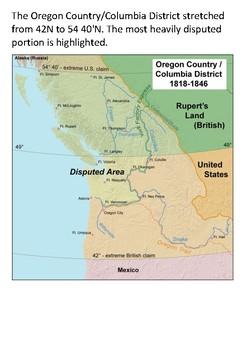 The Oregon Territory Dispute Word Search