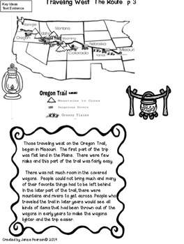 The Oregon Trail  Close Reading 2nd and 3rd Grades