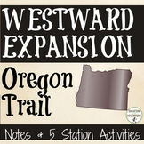 Oregon Trail Interactive Notebook and Center Activities fo